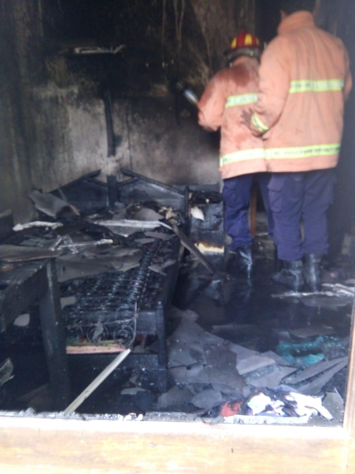 Kondisi Rumah Usai Terbakar